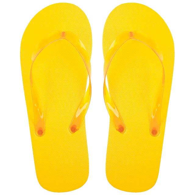 Varadero plážové žabky - žlutá