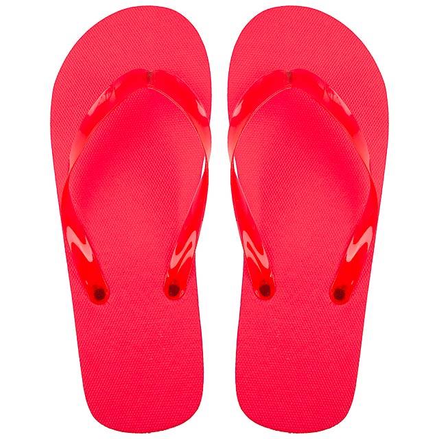 Varadero plážové žabky - červená