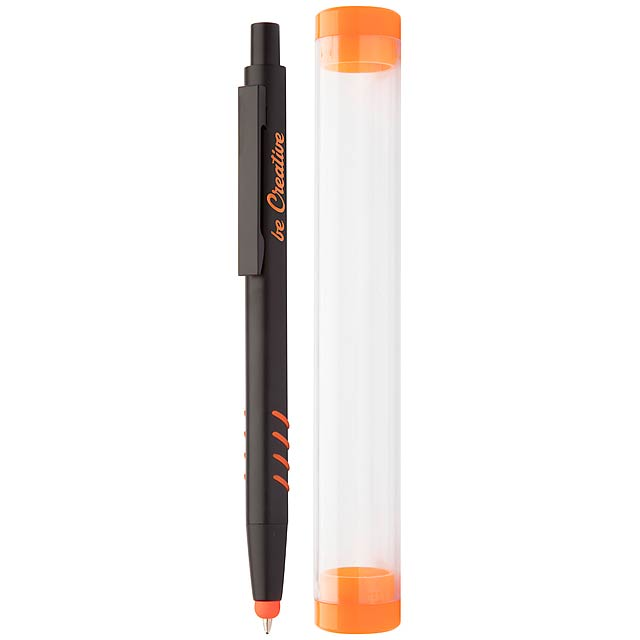 Crovy dotykové kuličkové pero - oranžová