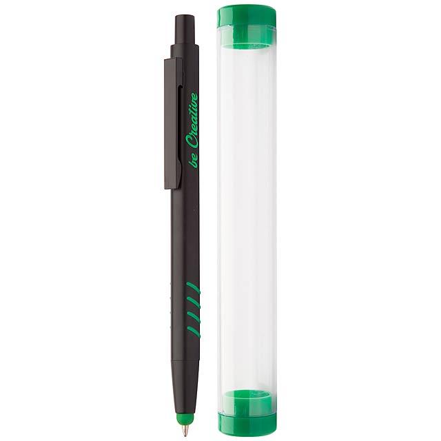 Crovy dotykové kuličkové pero - zelená