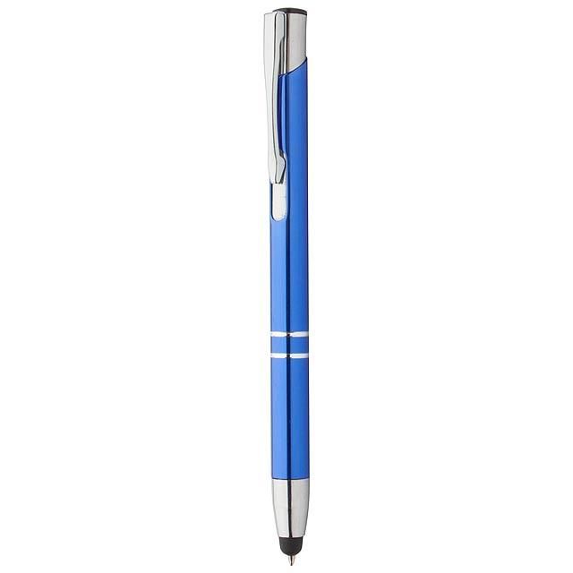 Tunnel dotykové kuličkové pero - modrá