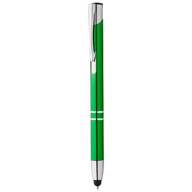 Tunnel dotykové kuličkové pero - zelená