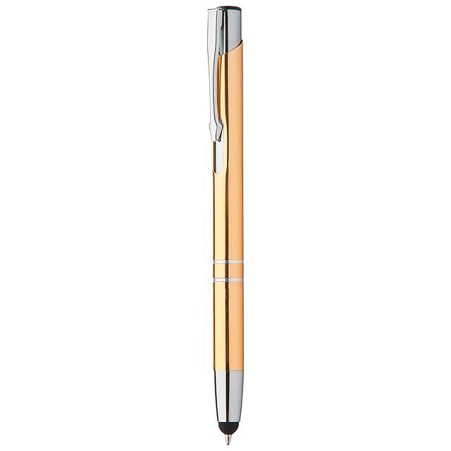 Tunnel dotykové kuličkové pero - zlatá