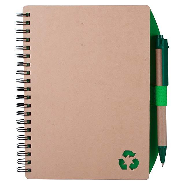Zuke poznámkový blok - zelená