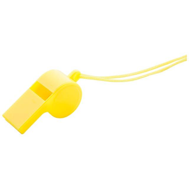 Claxo píšťalka - žlutá
