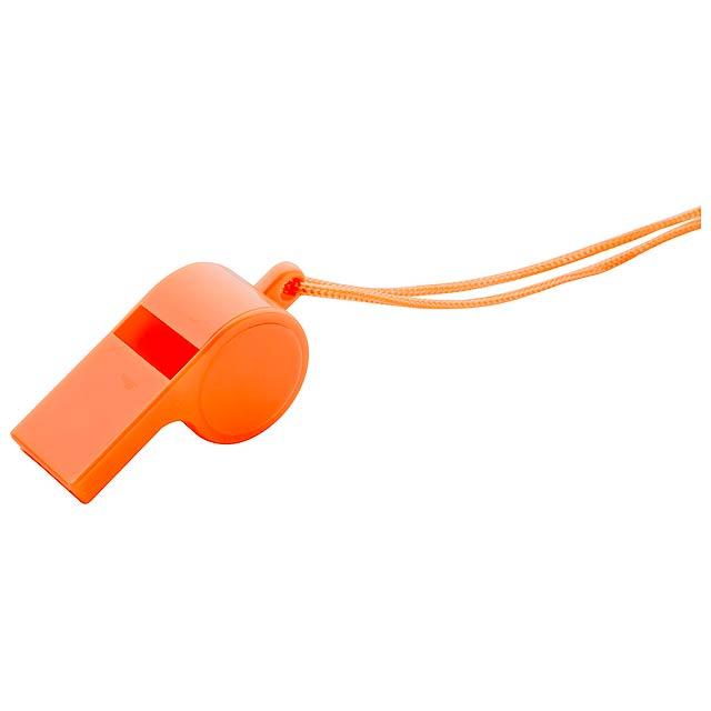 Claxo píšťalka - oranžová