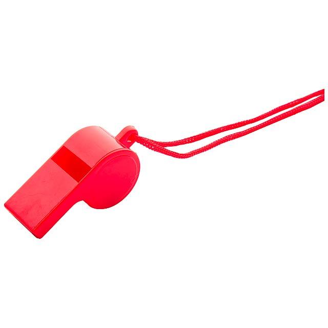 Claxo píšťalka - červená
