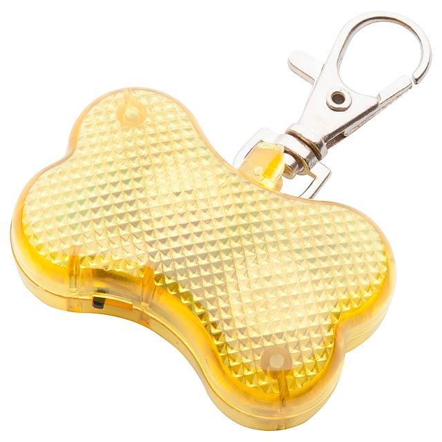 Belka bezpečnostní světlo pro zvířata - žlutá