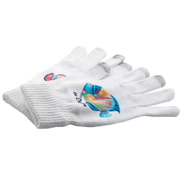 Subtium dotykové rukavice - bílá