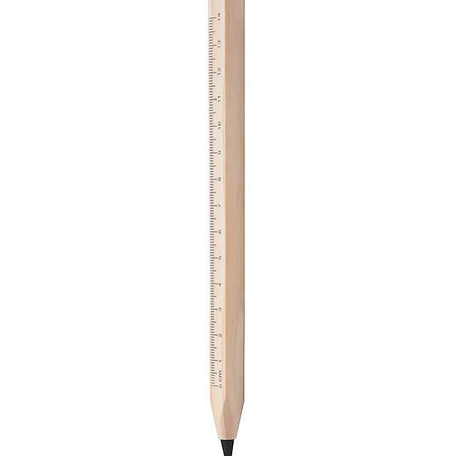 Burnham kuličkové pero s pravítkem - dřevo