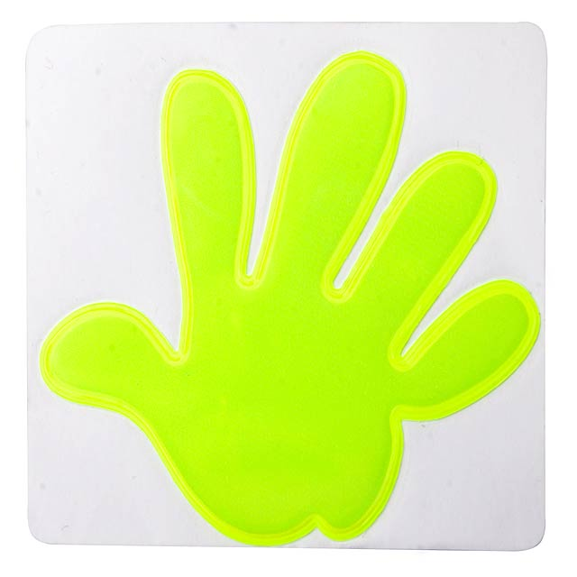 Reflective sticker, hand - yellow