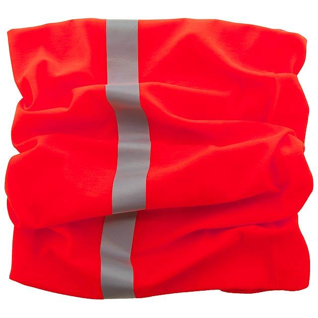 Reflex reflexní víceúčelová šála - červená