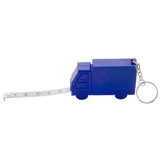 Symmons přívěšek na klíče s metrem - modrá
