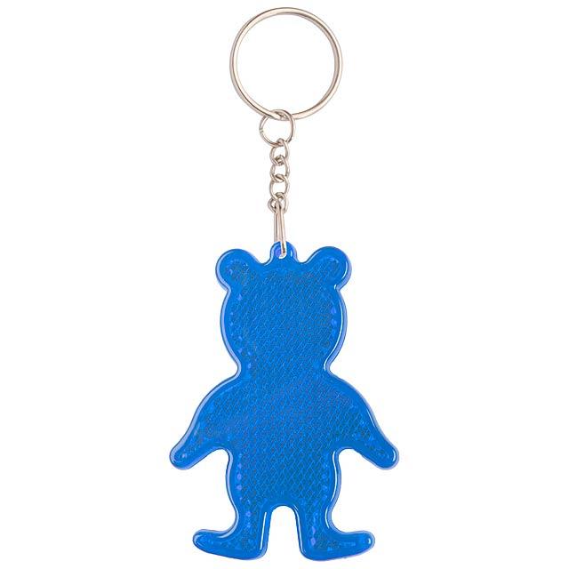 Safebear přívěšek na klíče - odrazka - modrá