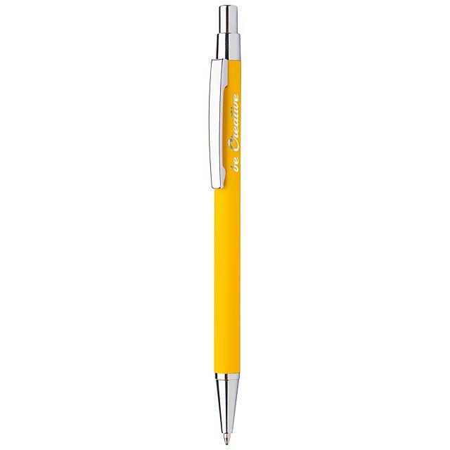 Chromy kuličkové pero - žlutá