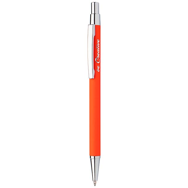 Chromy kuličkové pero - oranžová