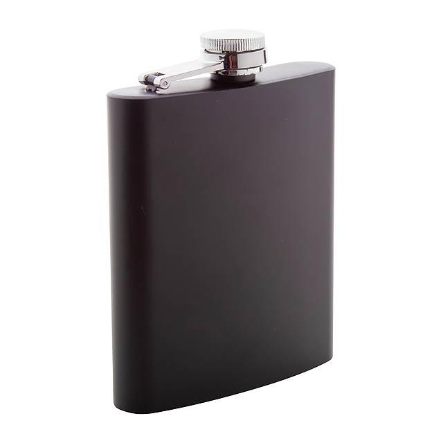 Gravning butylka - likérka - černá