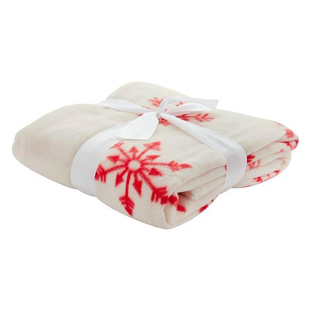 Uppsala fleecová deka - bílá