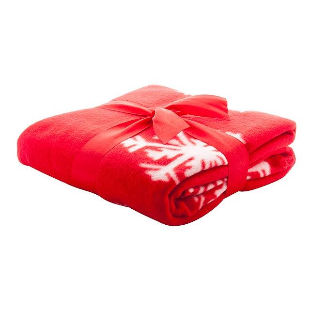 Uppsala fleecová deka - červená