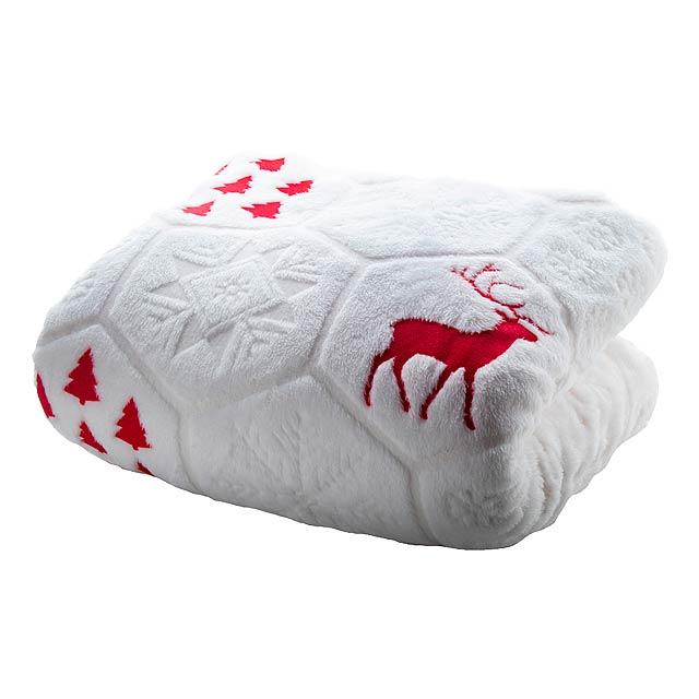 Sundborn vánoční deka - červená