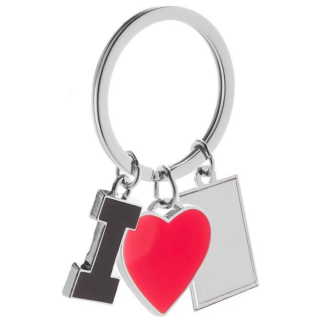 I Love přívěšek na klíče - multicolor