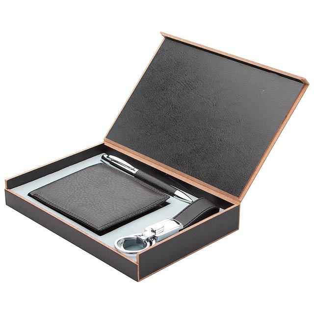 Gentleman set s peněženkou - černá