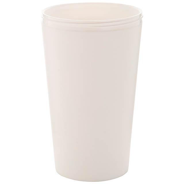 CreaCup termo hrnek na zakázku - bílá