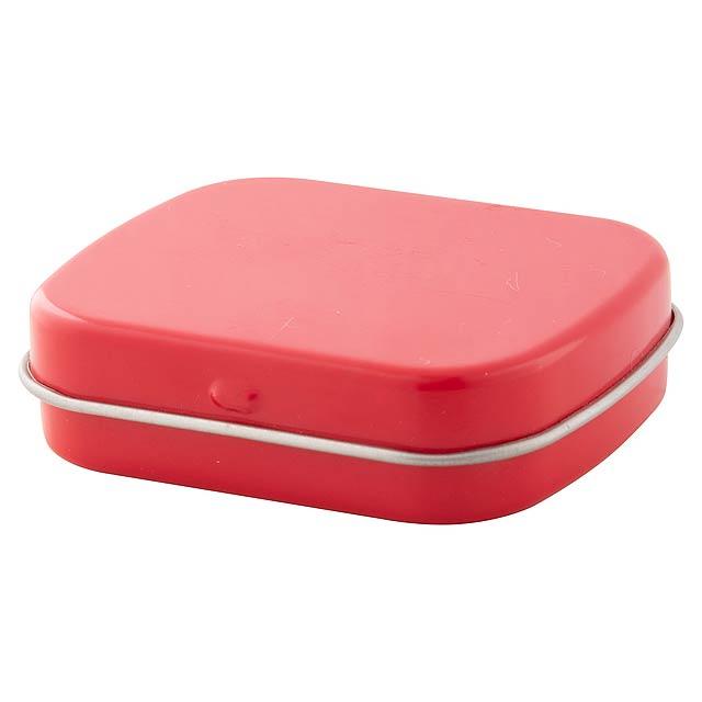 Flickies krabička s mintovými bonbóny - červená