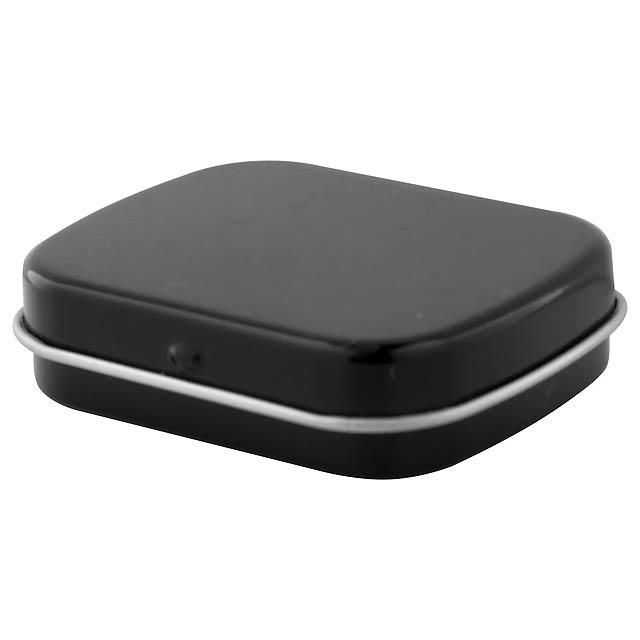 Flickies krabička s mintovými bonbóny - čierna