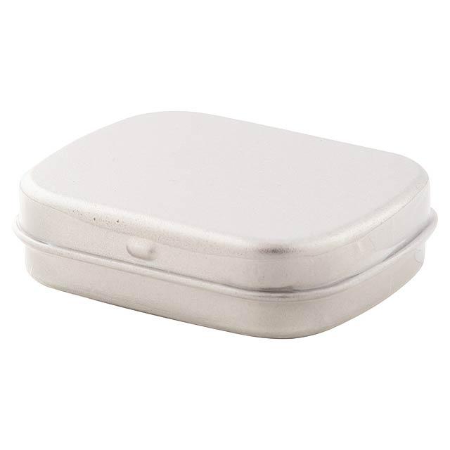 Flickies krabička s mintovými bonbóny - strieborná