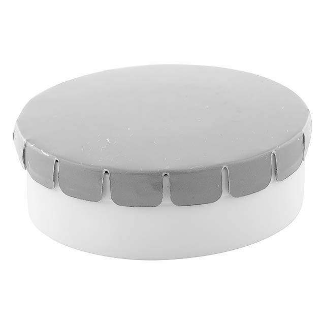 ClickToo krabička s mintovými bonbóny - strieborná