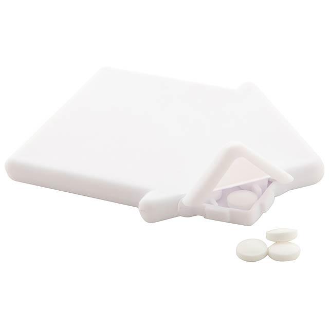 Casamint krabička s mintovými bonbóny - biela