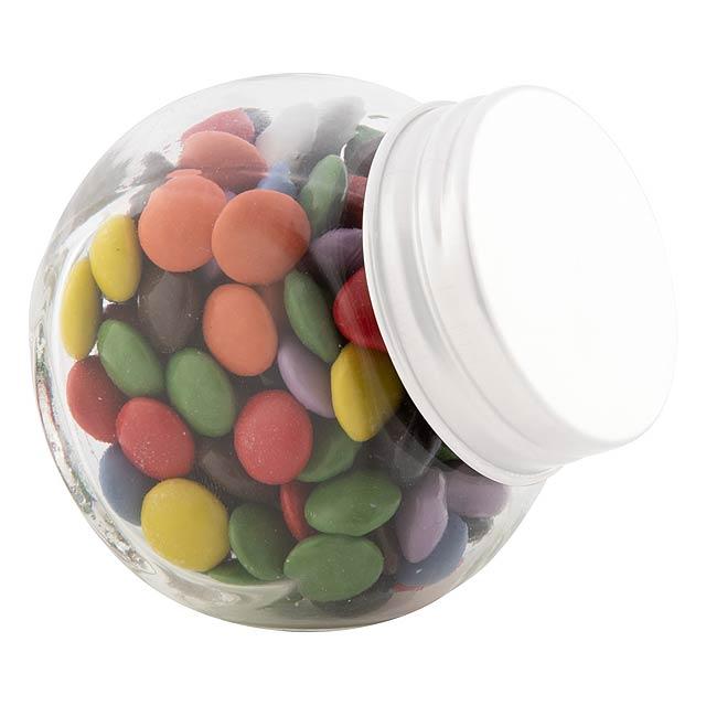 Shukulat jars with candies - white