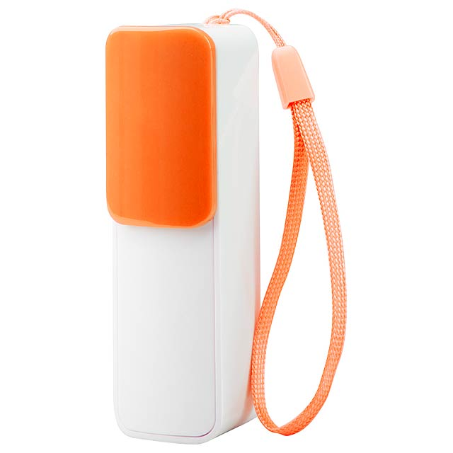 Slize USB power banka - oranžová