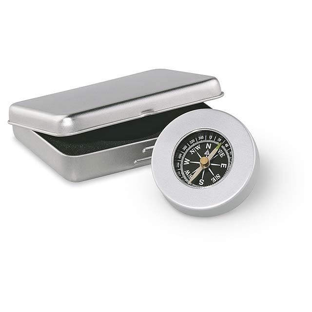 Target - navigačný kompas - strieborná mat