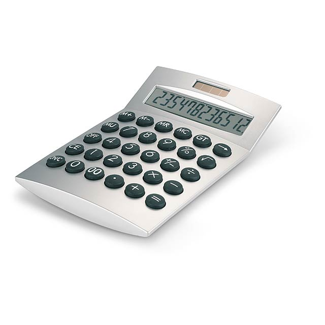 12-digit calculator  - matt silver