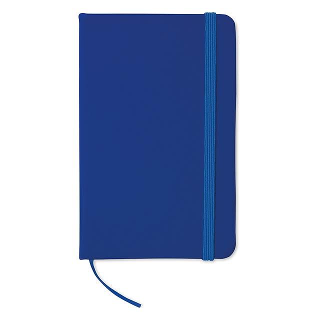 Zápisník s gumičkou - modrá