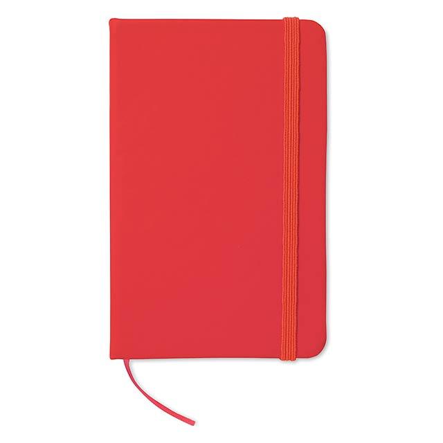 Zápisník s gumičkou - červená