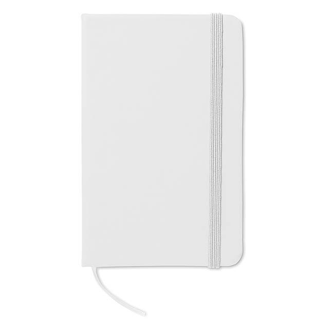 Zápisník - notes A6- NOTELUX - bílá