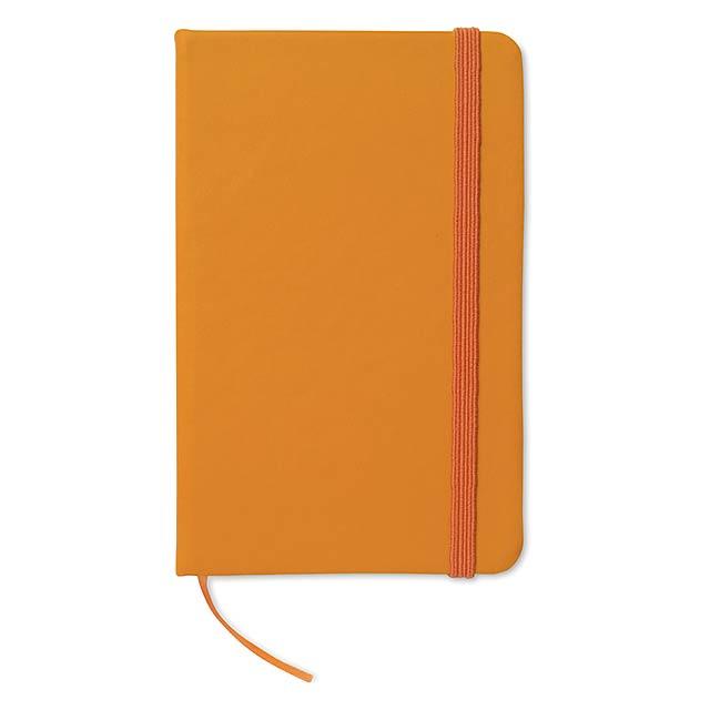 Zápisník s gumičkou - oranžová