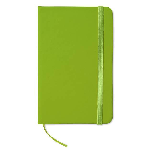Zápisník s gumičkou - citrónová - limetková