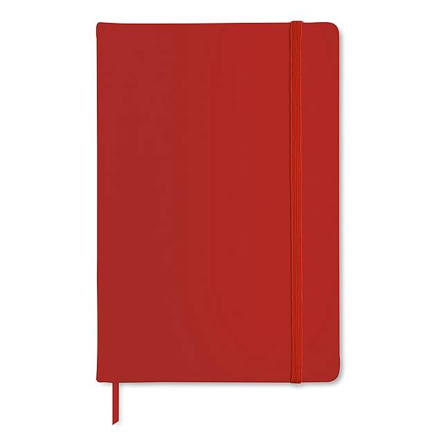 Poznámkový blok A5 - červená