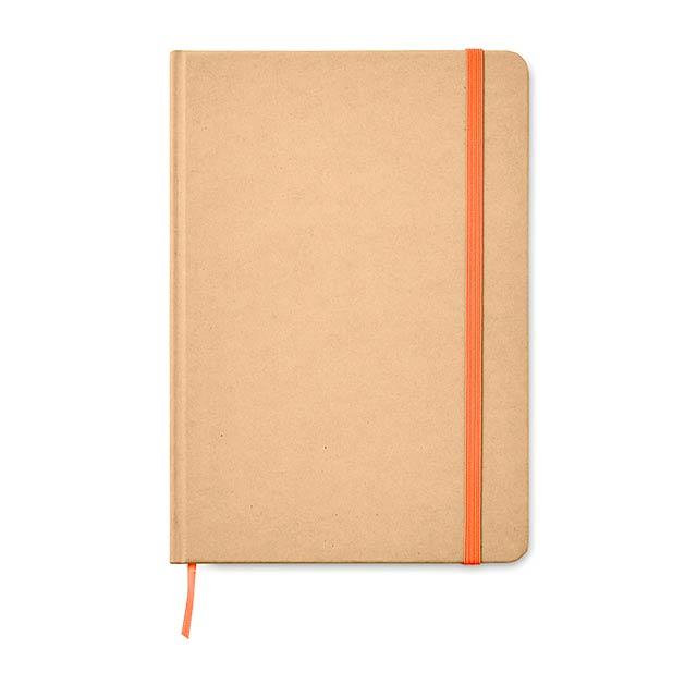 EVERWRITE - A5 zápisník v recykl. kartonu  - oranžová