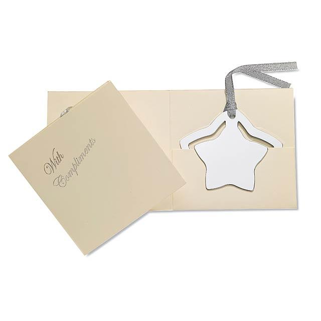 Záložka ve tvaru hvězdy - ESTEL - stříbrná lesk