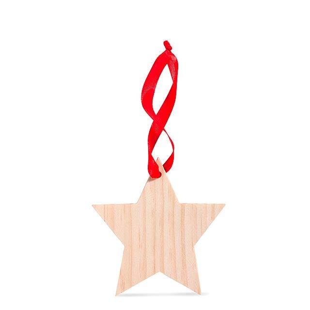 Ozdoba ve tvaru hvězdy - WOOSTAR - dřevo