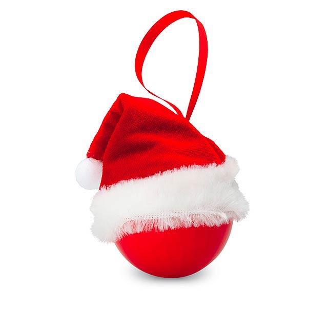 Ozdoba santa klobouk - BOLIHAT - červená