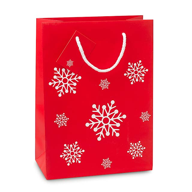 Gift paper bag medium  - red