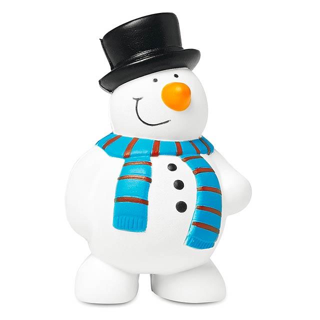 Anti-stres sněhulák - PENNY - bílá
