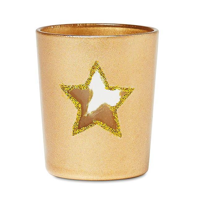 Stojan na čajovou svíčku - SHINNY STAR - champagne