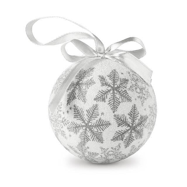 Vánoční ozdoby v dárkovém boxu - FLAKIES - stříbrná